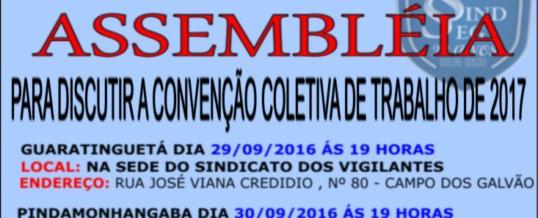 Assembléia Geral – Convenção Coletiva 2017