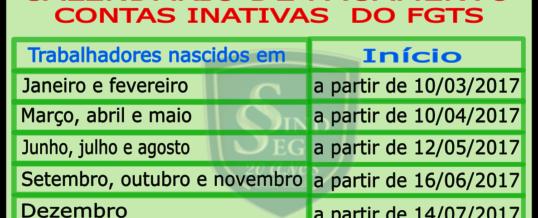 Calendário de Saque das Contas Inativas do FGTS