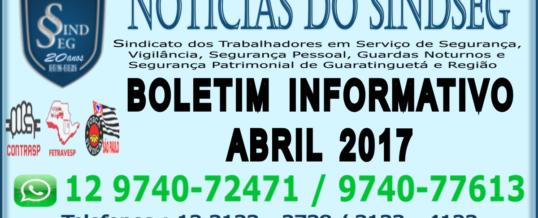 Boletim Informativo Abril 2017