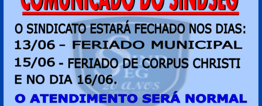 Comunicado do Sindseg